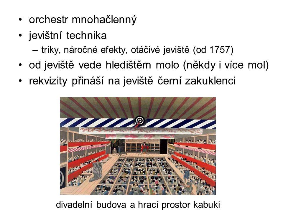 divadelní budova a hrací prostor kabuki