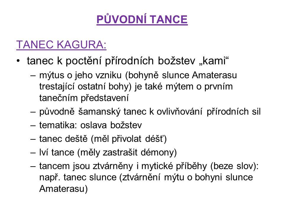 """tanec k poctění přírodních božstev """"kami"""