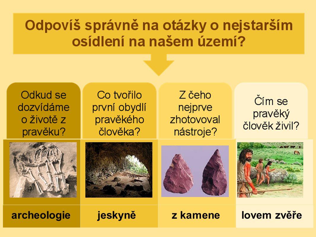 archeologie jeskyně z kamene lovem zvěře