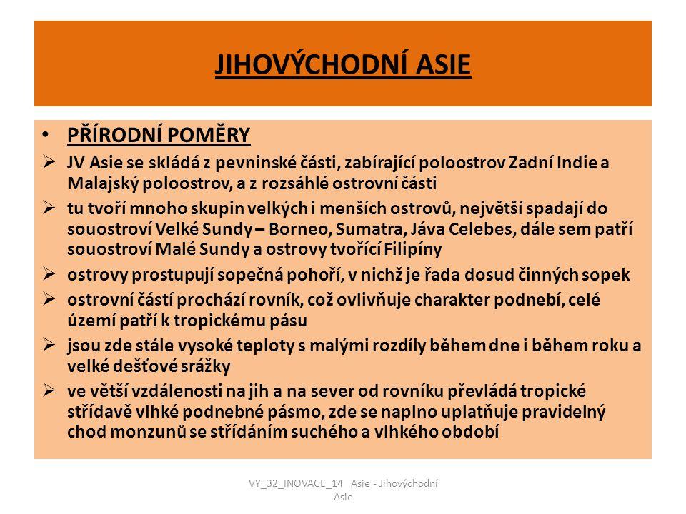 VY_32_INOVACE_14 Asie - Jihovýchodní Asie