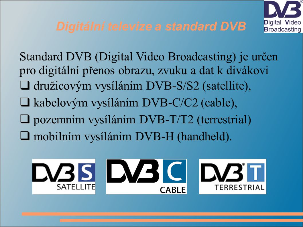 Digitální televize a standard DVB