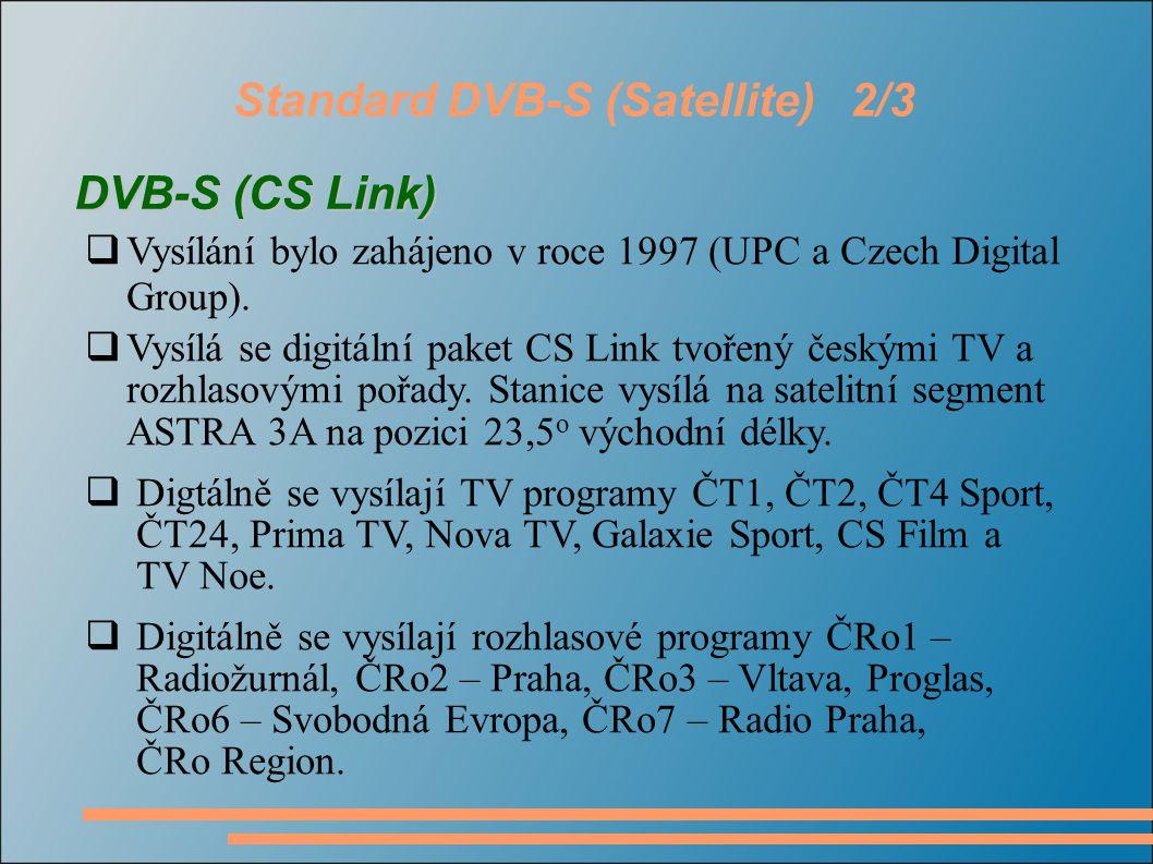Standard DVB-S (Satellite) 2/3