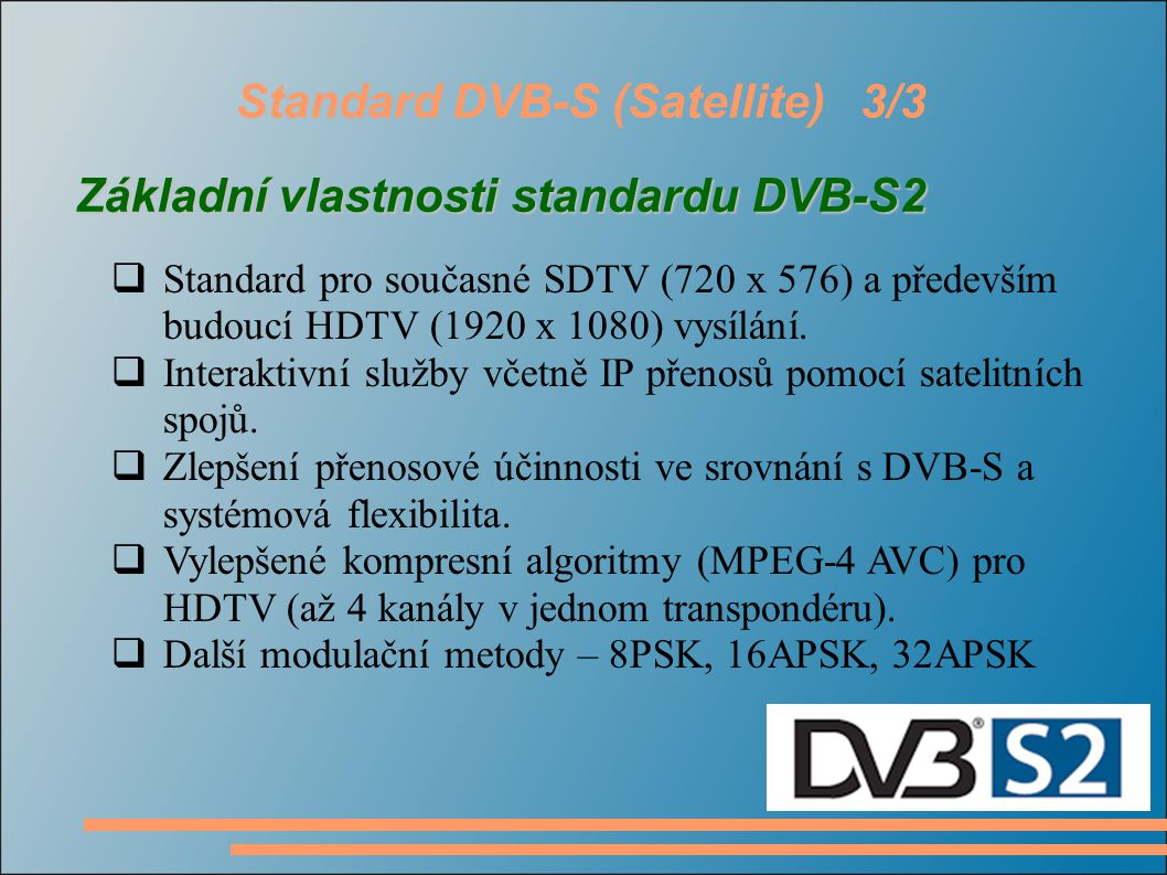 Standard DVB-S (Satellite) 3/3