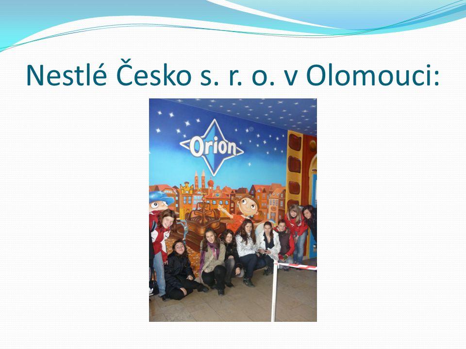 Nestlé Česko s. r. o. v Olomouci: