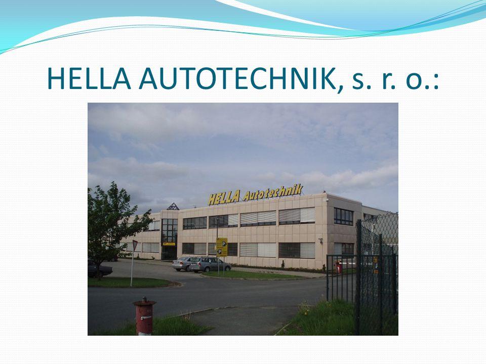 HELLA AUTOTECHNIK, s. r. o.: