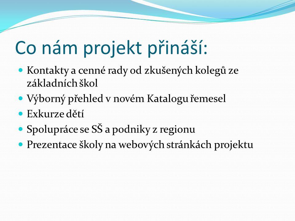 Co nám projekt přináší: