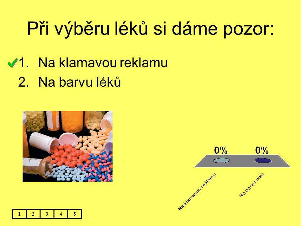 Při výběru léků si dáme pozor: