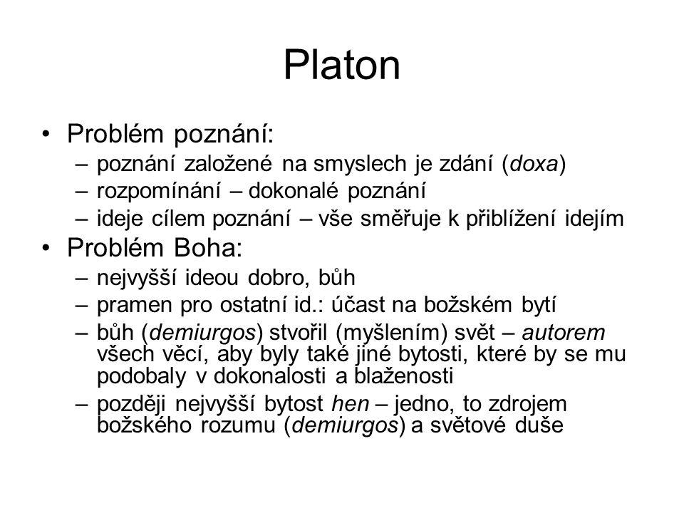 Platon Problém poznání: Problém Boha: