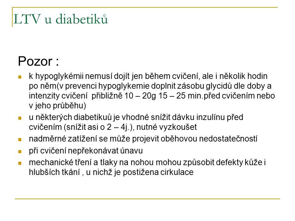 LTV u diabetiků Pozor :