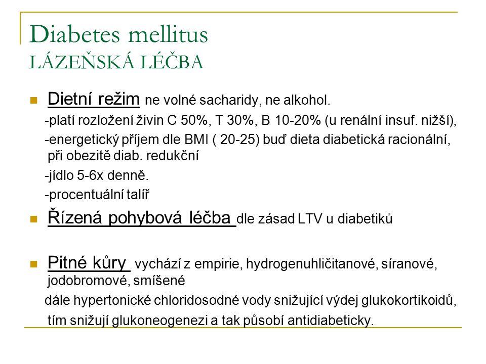 Diabetes mellitus LÁZEŇSKÁ LÉČBA