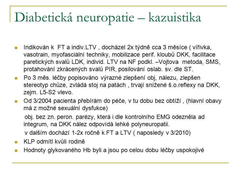 Diabetická neuropatie – kazuistika