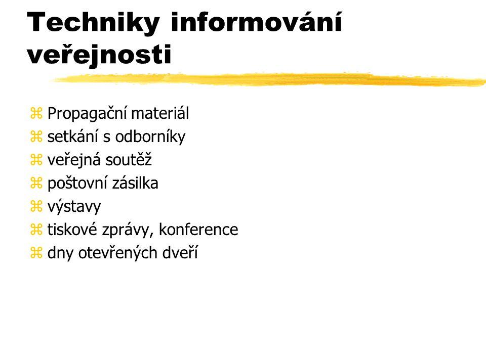 Techniky informování veřejnosti
