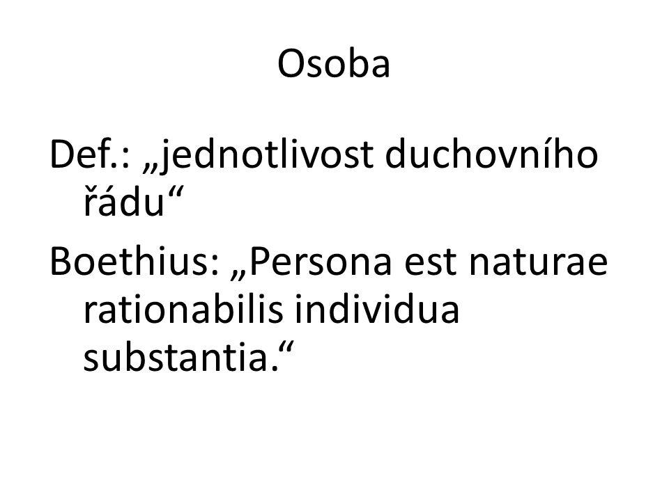 """Def.: """"jednotlivost duchovního řádu"""