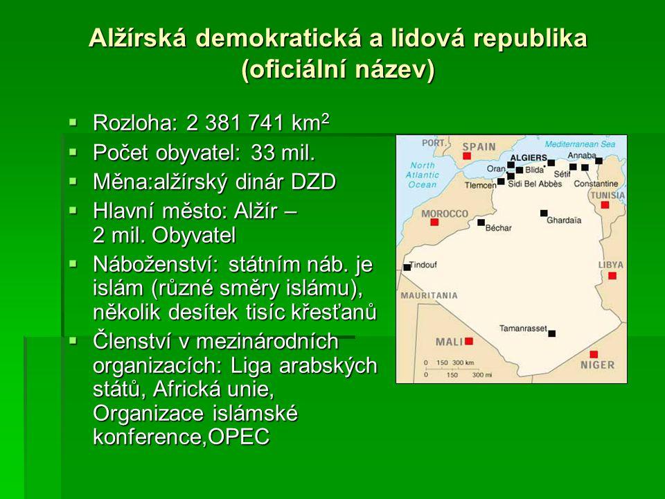 Alžírská demokratická a lidová republika (oficiální název)