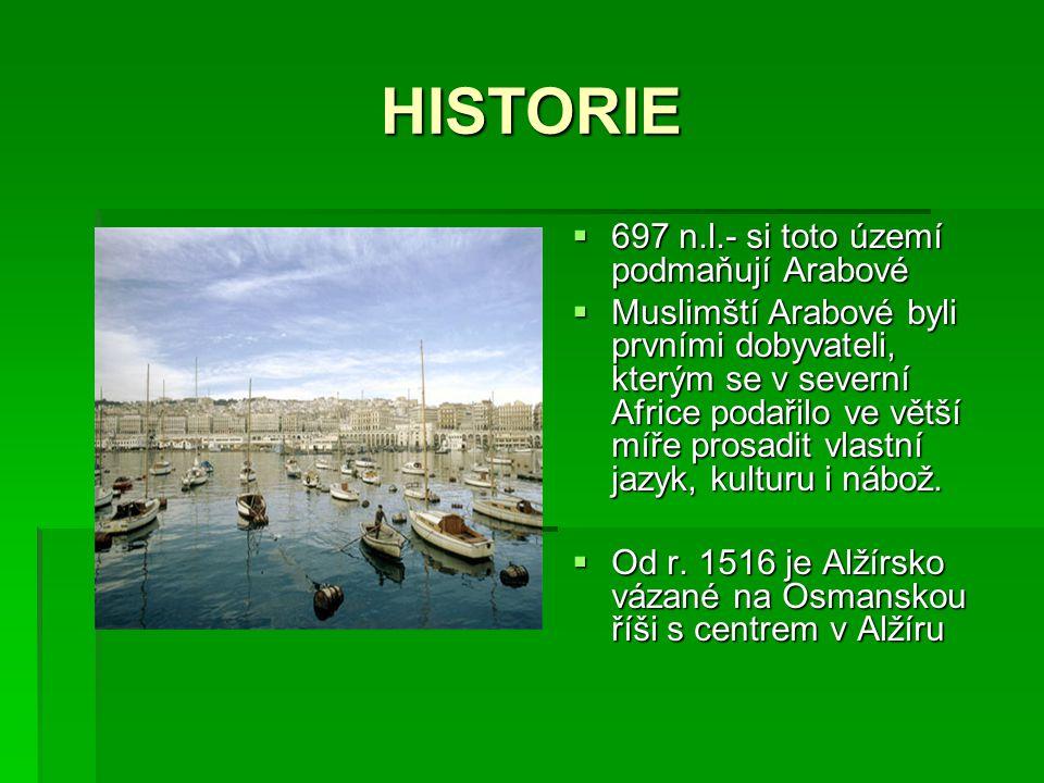 HISTORIE 697 n.l.- si toto území podmaňují Arabové