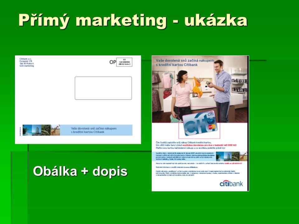 Přímý marketing - ukázka