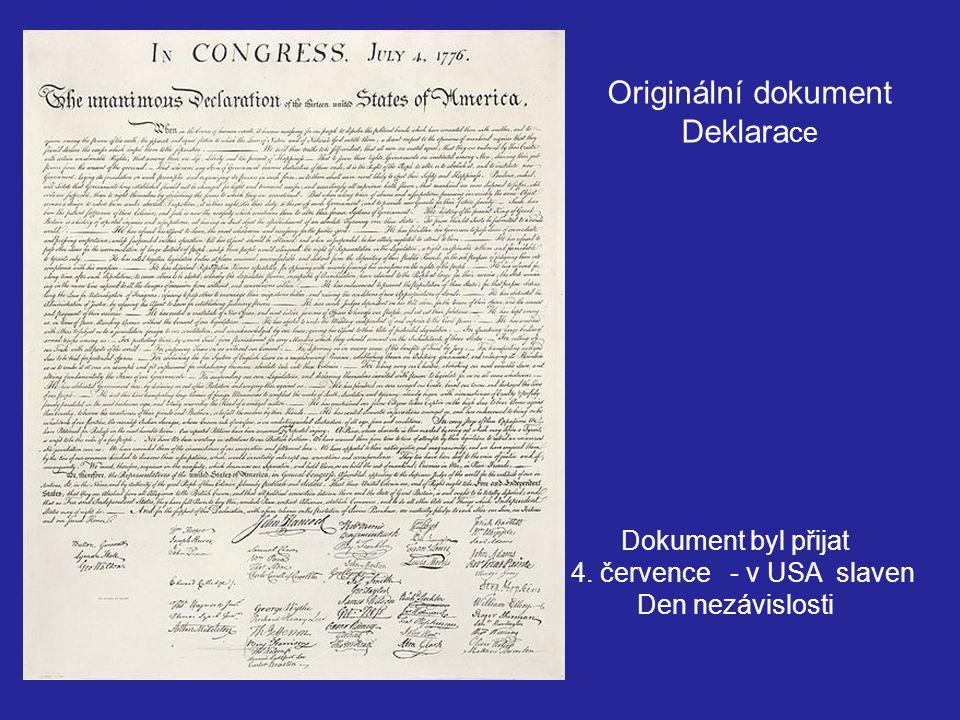 Originální dokument Deklarace