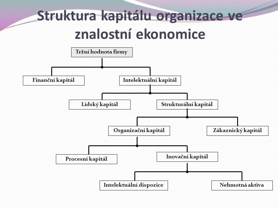 Struktura kapitálu organizace ve znalostní ekonomice
