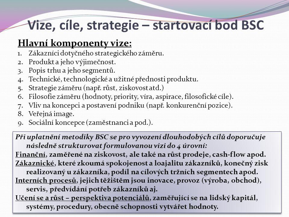 Vize, cíle, strategie – startovací bod BSC