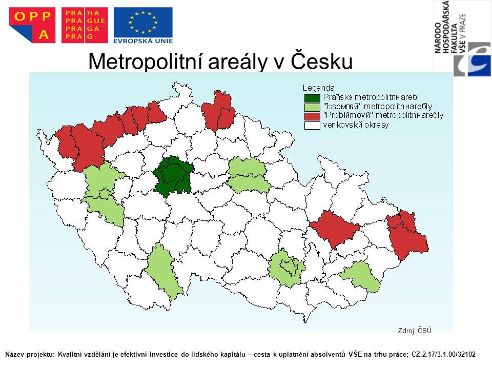 Metropolitní areály v Česku