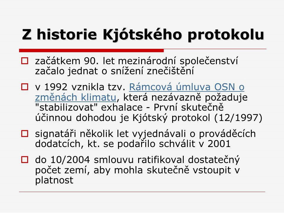 Z historie Kjótského protokolu