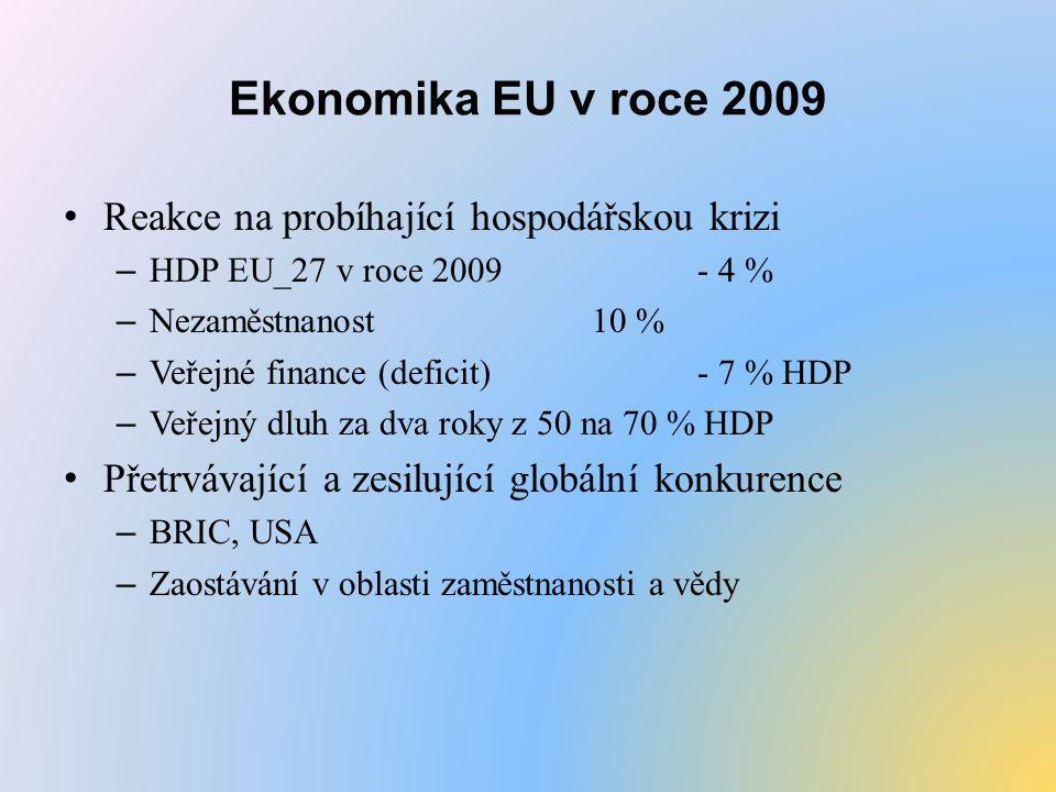 Ekonomika EU v roce 2009 Reakce na probíhající hospodářskou krizi