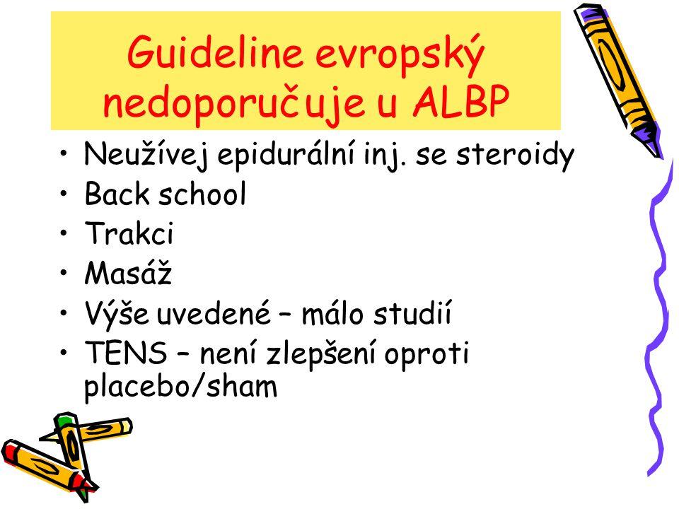Guideline evropský nedoporučuje u ALBP