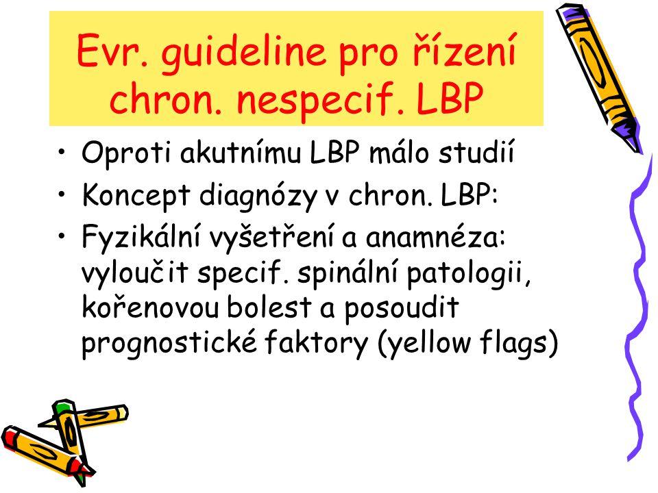 Evr. guideline pro řízení chron. nespecif. LBP