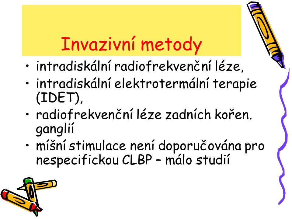 Invazivní metody intradiskální radiofrekvenční léze,