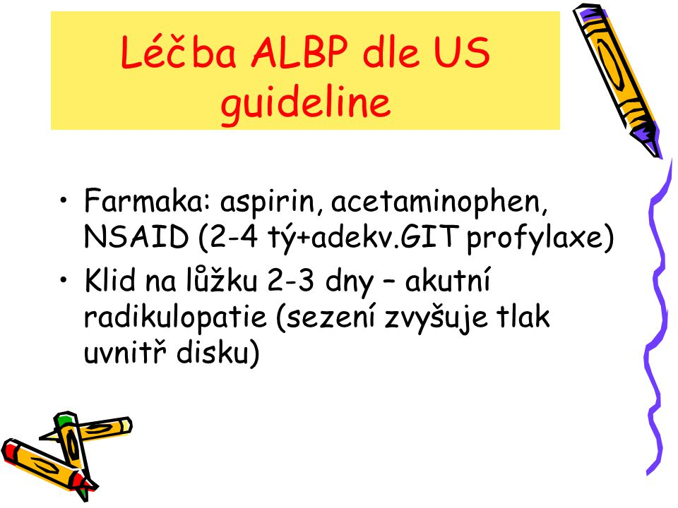 Léčba ALBP dle US guideline