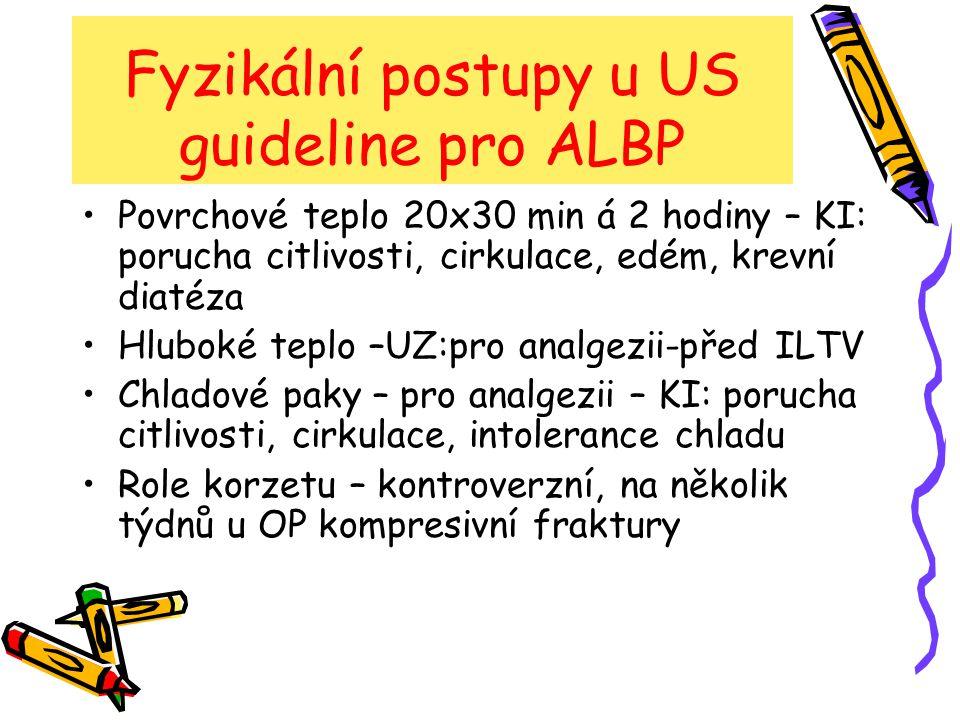 Fyzikální postupy u US guideline pro ALBP