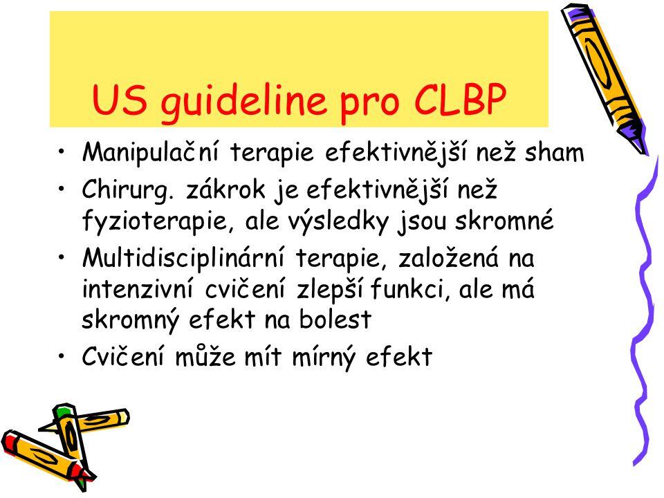 US guideline pro CLBP Manipulační terapie efektivnější než sham