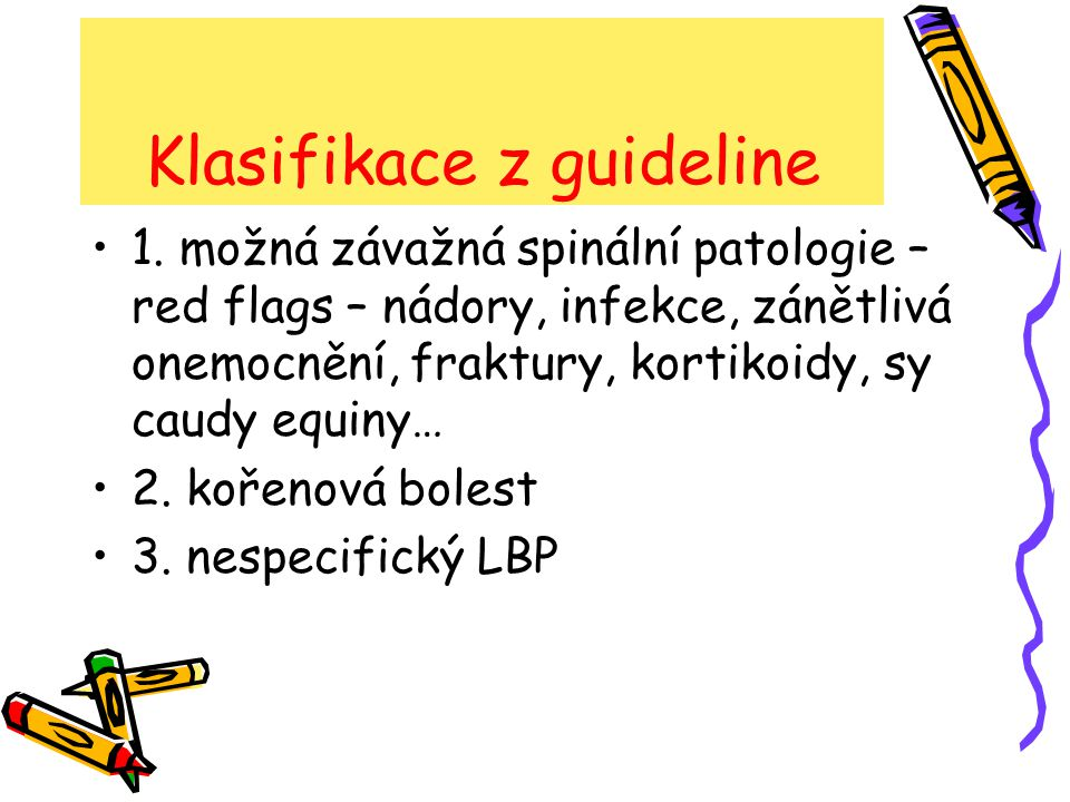 Klasifikace z guideline