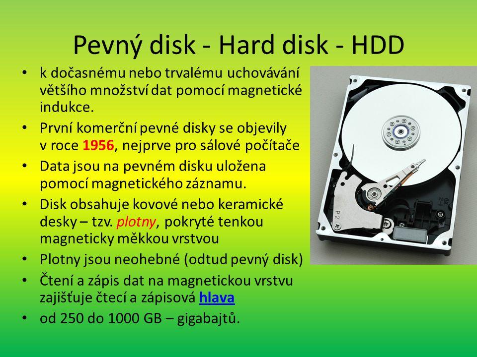 Pevný disk - Hard disk - HDD