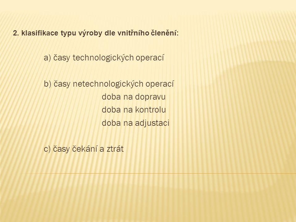 2. klasifikace typu výroby dle vnitřního členění: