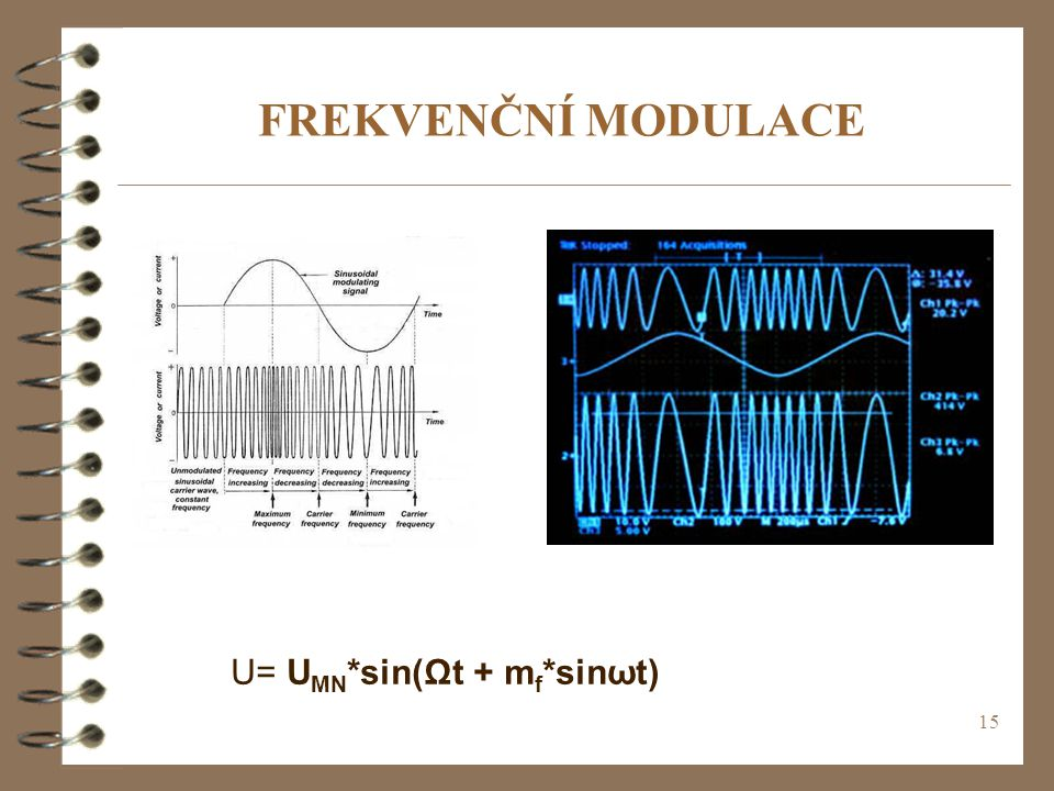 FREKVENČNÍ MODULACE U= UMN*sin(Ωt + mf*sinωt)