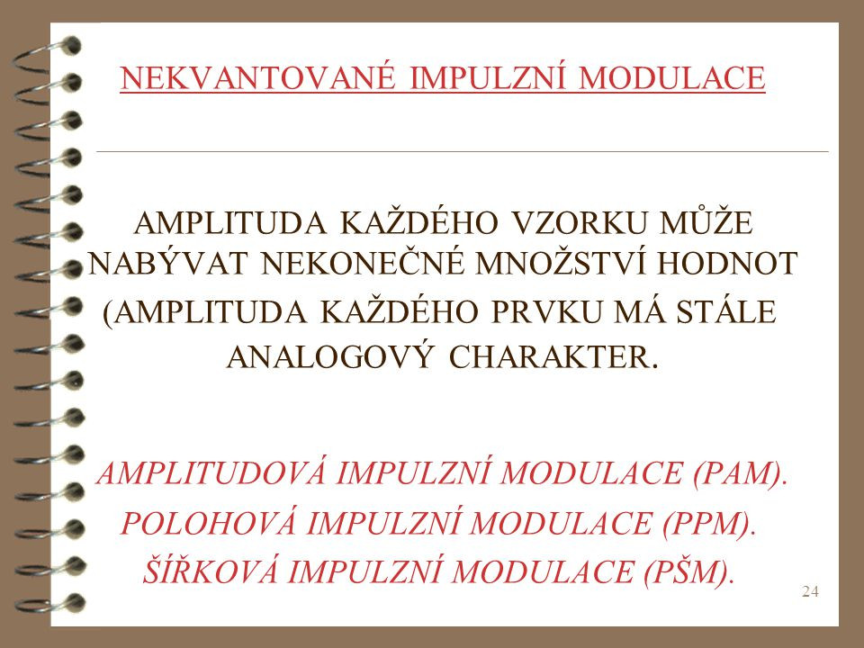 AMPLITUDOVÁ IMPULZNÍ MODULACE (PAM).