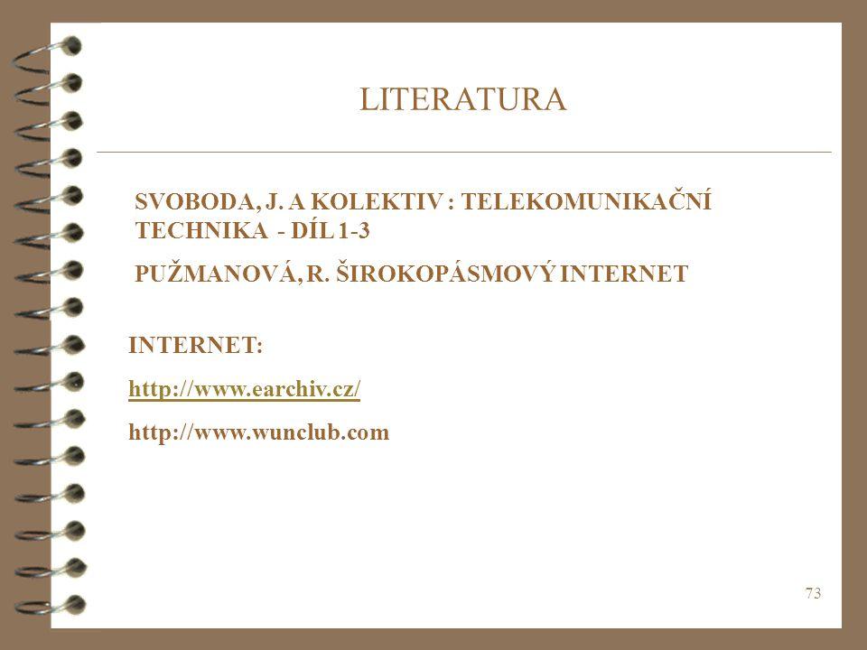 LITERATURA SVOBODA, J. A KOLEKTIV : TELEKOMUNIKAČNÍ TECHNIKA - DÍL 1-3