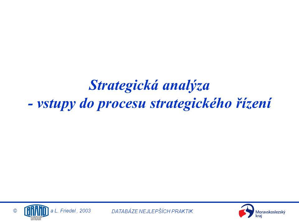 Strategická analýza - vstupy do procesu strategického řízení