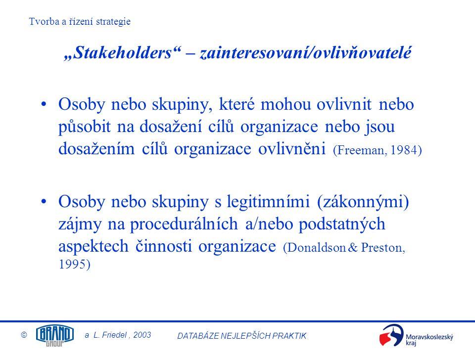"""""""Stakeholders – zainteresovaní/ovlivňovatelé"""