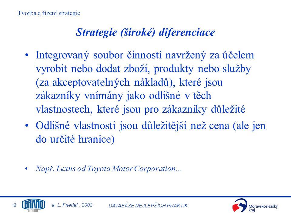 Strategie (široké) diferenciace