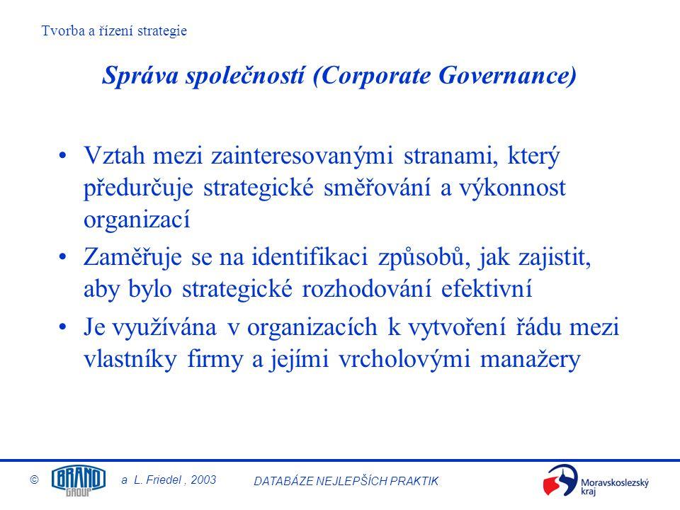 Správa společností (Corporate Governance)