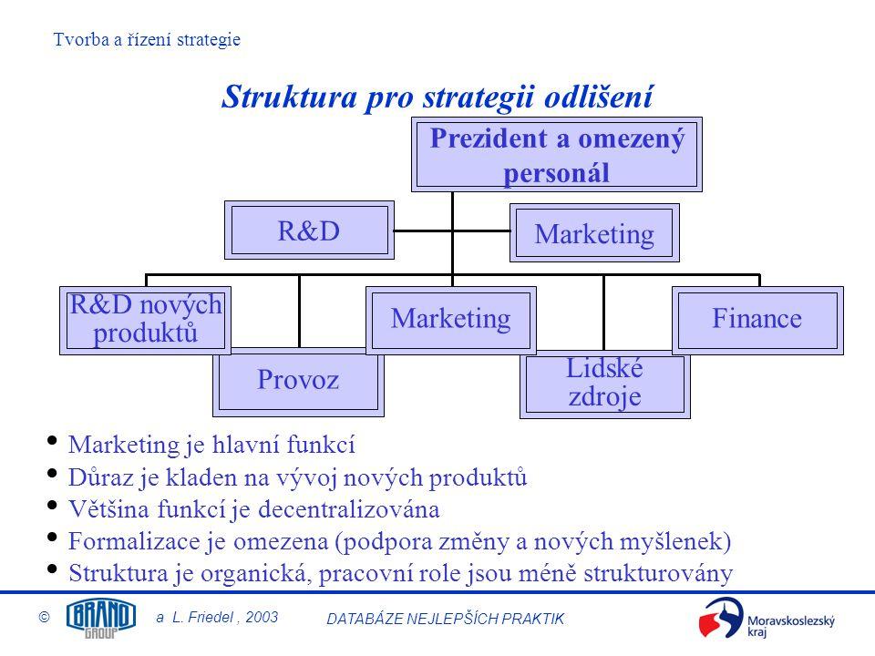 Struktura pro strategii odlišení