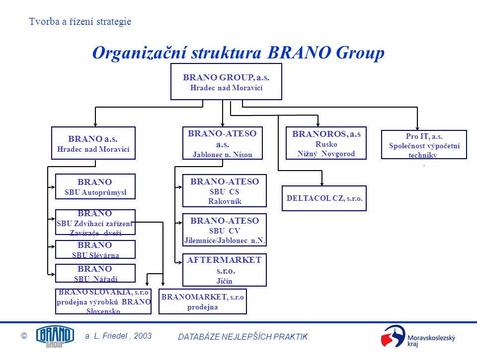 Organizační struktura BRANO Group