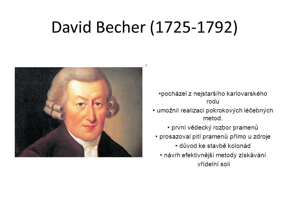 David Becher (1725-1792) pocházel z nejstaršího karlovarského rodu