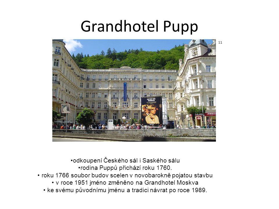Grandhotel Pupp odkoupení Českého sál i Saského sálu