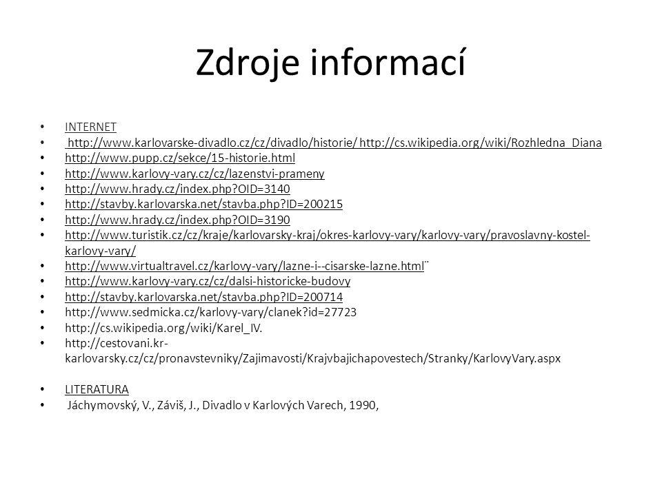 Zdroje informací INTERNET