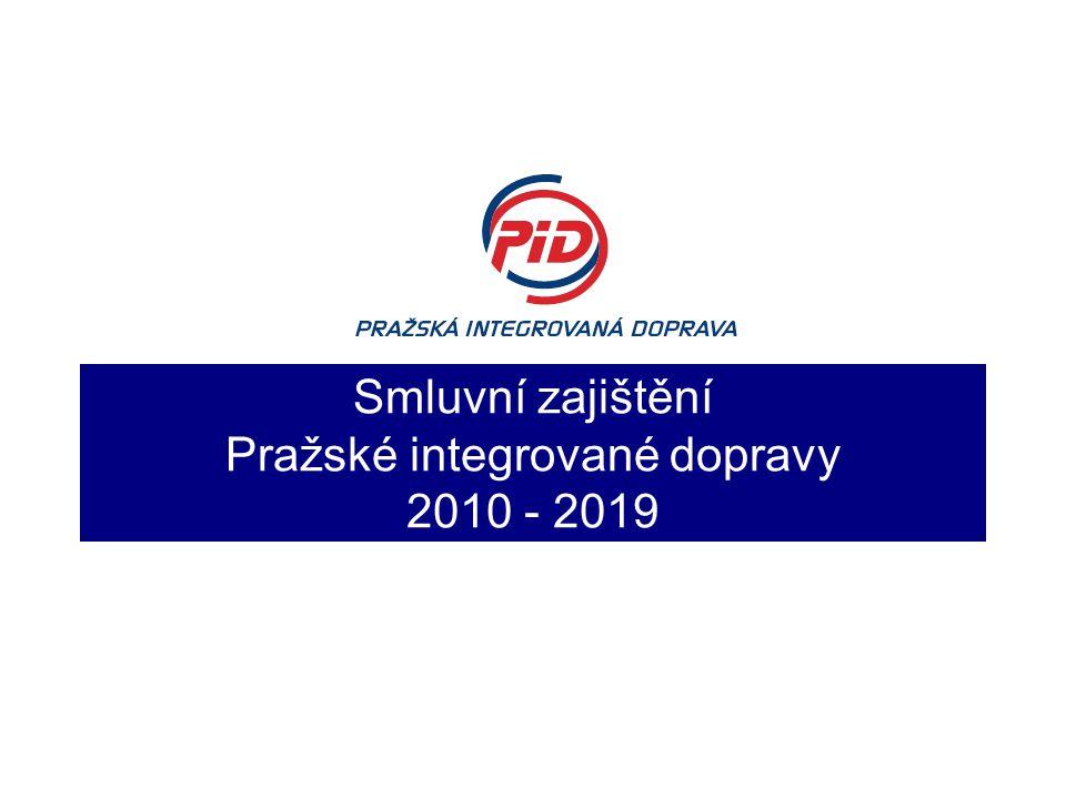 Smluvní zajištění Pražské integrované dopravy 2010 - 2019