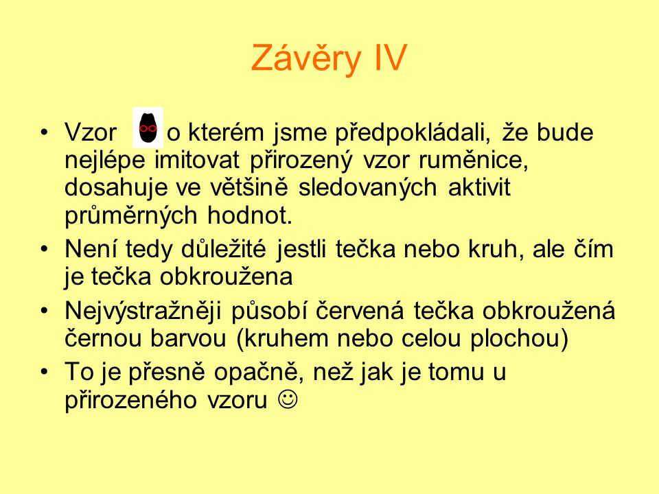 Závěry IV