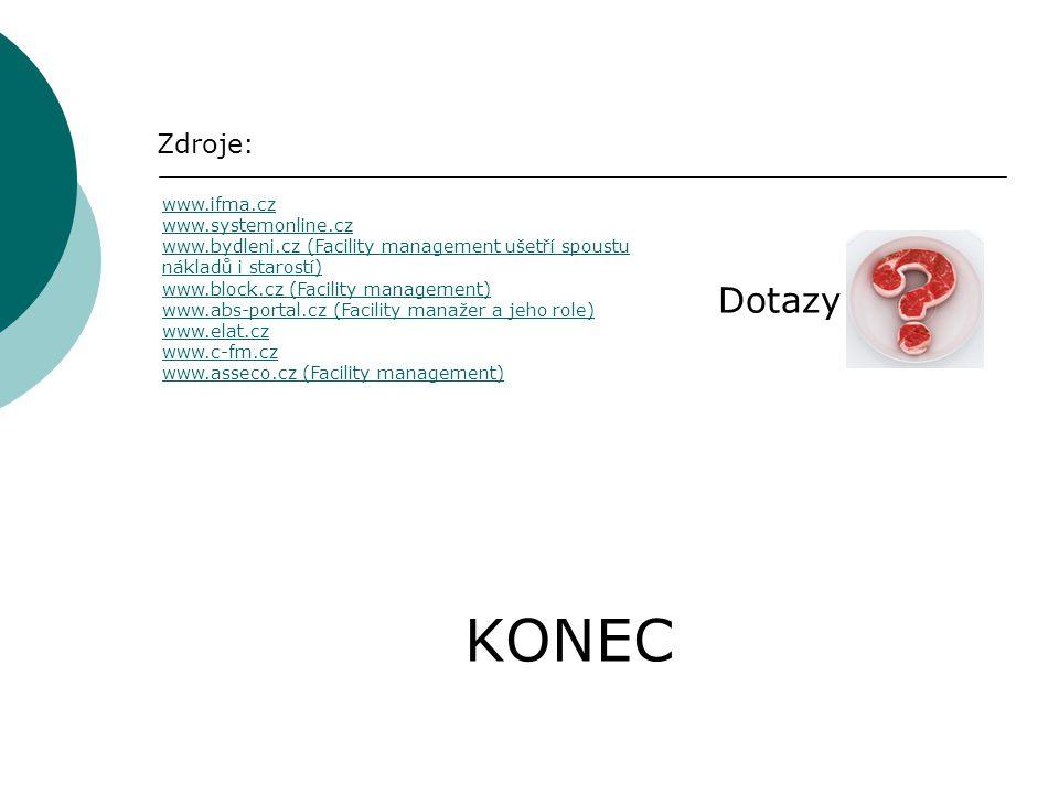 KONEC Dotazy Zdroje: www.ifma.cz www.systemonline.cz